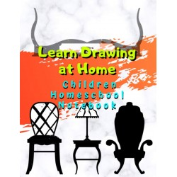 Learn Drawing at Home - Children Homeschool Notebook